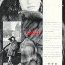 BIRGEN CHRISTENSEN - 1989 - LADY IN FUR COAT PRINT AD