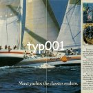 ROLEX - 1985 - MAXI YACHTS THE CLASSICS ENDURE PRINT AD