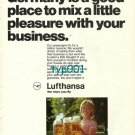LUFTHANSA - 1973 - GERMANY IS GOOD PLACE TO MIX PLEASURE WITH BUSINESS PRINT AD