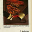 LUFTHANSA - 1982 - SENATOR CLASS CULINARY SERVICES LOBSTER PRINT AD