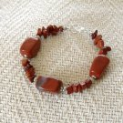 FREE SHIPPING Absolutely Gorgeous RED Jasper stone bracelet