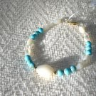 FREE SHIPPING Mother of pearl and Turquoise Bracelet