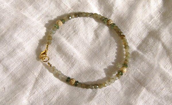 FREE SHIPPING Green jasper and apatite bracelet