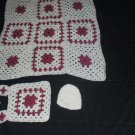 Mauve and White Baby Set