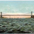 The Williamsburg Bridge, East River, New York c1910s