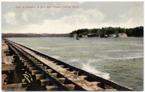 Jetty at Entrance to Coos Bay, Oregon