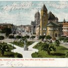 San Jose, CA - City Hall Park, PO, & St. Josephs Church c1907