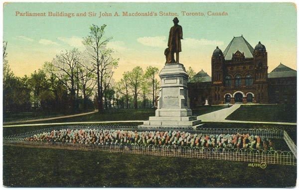 Parliament Buildings / Sir John A. Macdonald's Statue, Toronto, Canada