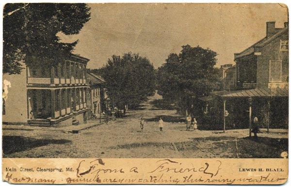 Main Street, Clearspring, MD c1905 - Children in Street