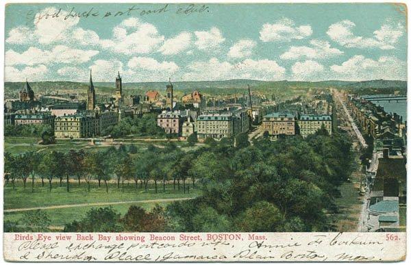 Aerial View, Back Bay / Beacon Street, Boston, MA c1906