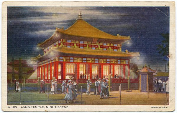 Lama Temple, Night Scene (1934 Chicago World's Fair)