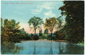 Lake Keney Park, Hartford, CT c1910s Postcard