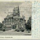 Willard Library, Evansville, IN c1905 Postcard
