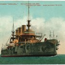 U.S. Battleship Nebraska, c1908 Postcard