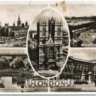 Real Photo Postcard - 5 London Scenes, c1930s