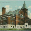 Muskegon High School, Muskegon, MI c1910s Postcard