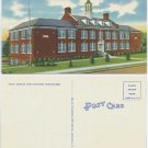 New High School, Martinsville, VA c1950 Postcard