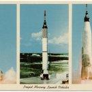 Project Mercury Launch Vehicles, c1960s Chrome Postcard