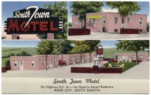 South Town Motel, Rapid City, SD Postcard