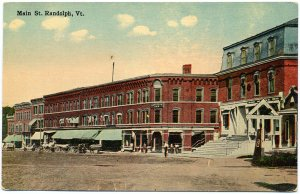 Main Street, Randolph, VT c1910s Postcard