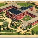 Aerial - Columbia College, Columbia, SC Linen Postcard