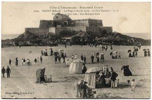 Emerald Coast, Saint-Malo, France c1910s Postcard
