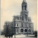 Court House, Springfield, MA pre-1910 Postcard - Horses