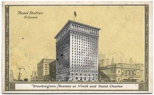 Hotel Statler, St. Louis, MO c1942 Postcard