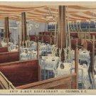 Ship A-Hoy Restaurant, Columbia, SC Linen Postcard