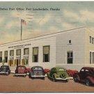 Post Office, Fort Lauderdale, FL c1951 Linen Postcard