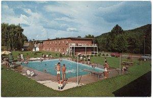Stewart's Motel - Pool View, Corbin, KY Postcard
