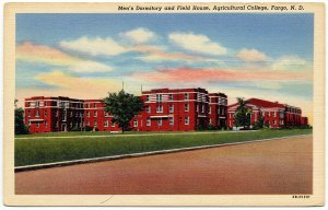 Agricultural College, Fargo, ND c1942 Linen Postcard