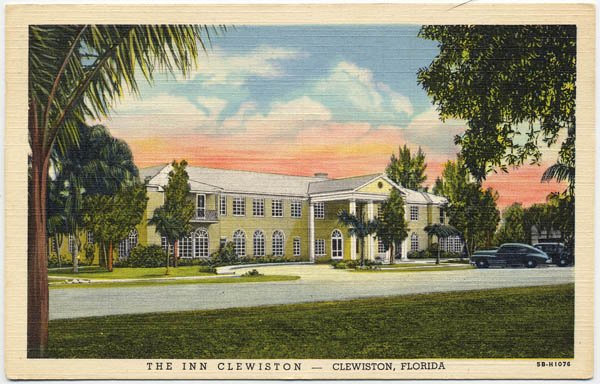 The Inn Clewiston, Clewiston, FL c1946 Postcard