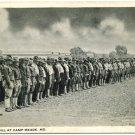 Company Drill at Camp Meade, MD WWI-Era Postcard