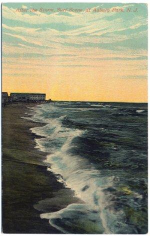 After the Storm, Surf Scene, Asbury Park, NJ Postcard