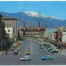 Pikes Peak Avenue, Colorado Springs, CO c1963 Postcard