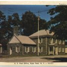 US Post Office, Hyde Park, NY c1947 Postcard