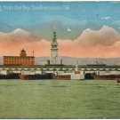 Ferry Bldg from the Bay, San Francisco, CA Postcard