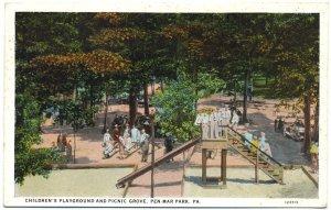 Children's Playground, Pen-Mar Park, PA Postcard