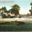 Entrance to Humboldt Park, Chicago c1909 Postcard