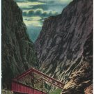Moonlight in the Royal Gorge, Colorado Postcard