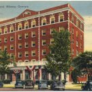 New Albany Hotel, Albany, GA Linen Postcard
