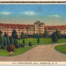 Appalacian Hall, Asheville, NC Linen Postcard