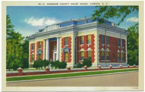 Kershaw County Court House, Camden, SC Postcard