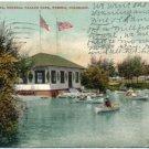Lake Clara, Mineral Palace Park, Pueblo, CO Postcard