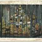 Tower of London Crown Jewels, c1904 Postcard