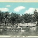 Central Park, McPherson, Kansas c1931 Postcard