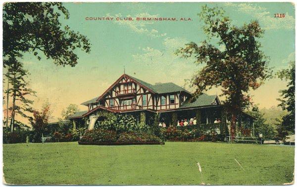 Country Club, Birmingham, AL c1912 Postcard