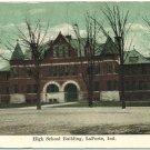 High School Building, LaPorte, Ind. c1909 Postcard