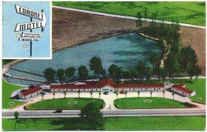 Coronet Motel, Columbia, SC Postcard
